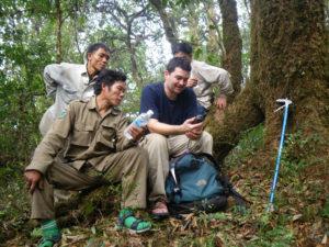 Bryan Stuart using GPS in the field