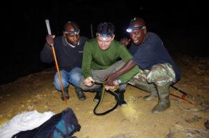Bryan Stuart with Rangers holding Mamba Snake