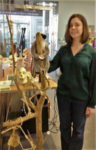 Christina Roche With a Lemur